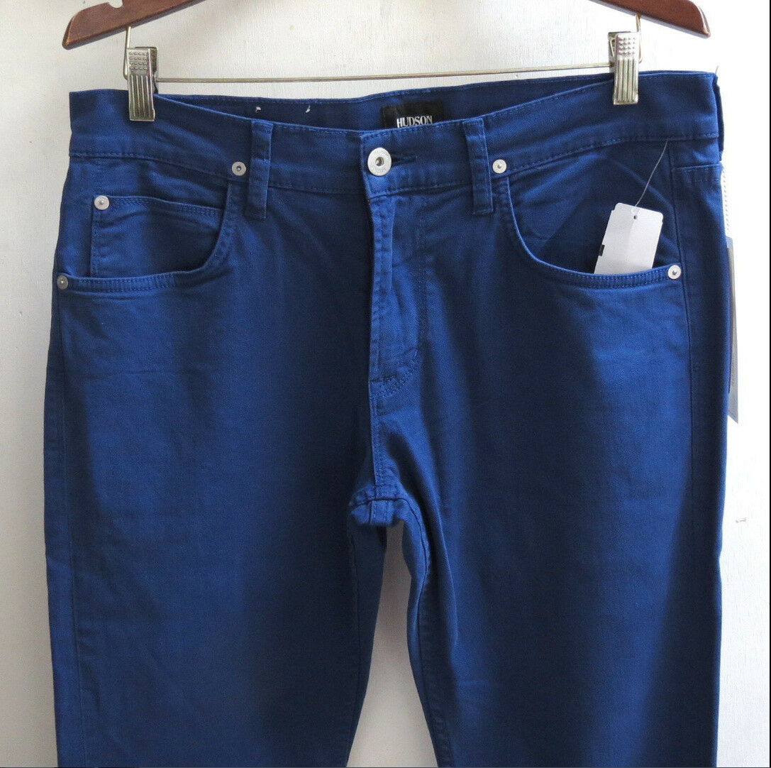 fac15fbe6da Hudson Jeans Men 38 W X 34 Blake Slim Straight Stretch Blue ...