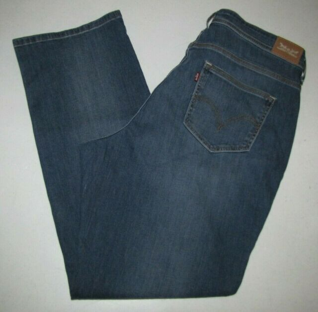 b4c76eea68453 Womens Levi s 580 Defined Waist Boot Cut Stretch Jeans.Size 18W Blue.31