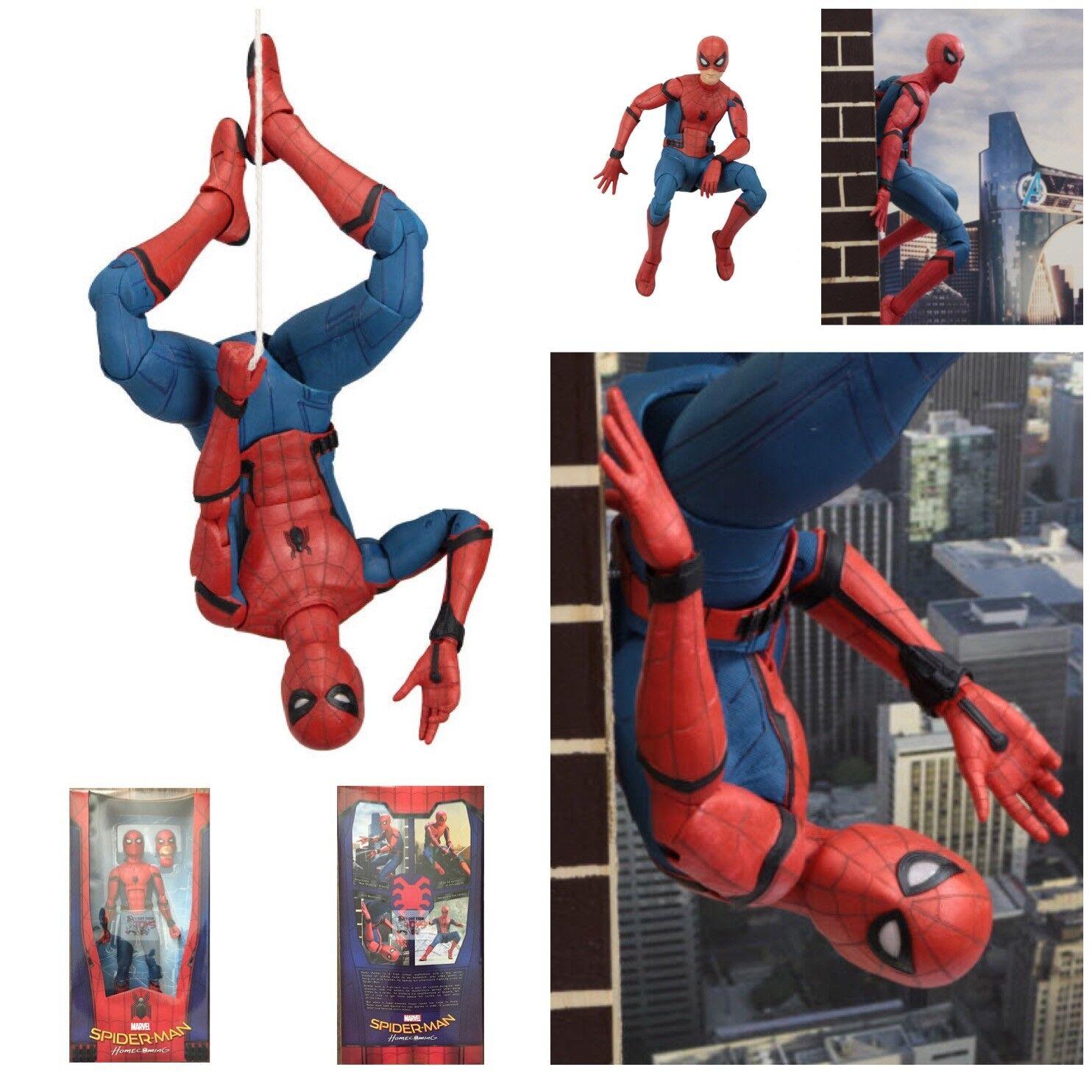 Hombre Araña (Peter Parker) 1 4 Escala Neca MARVEL SPIDER-MAN Casa próximos 2018 18