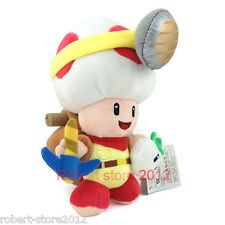 "Little Buddy Super Mario Series 7"" Standing Captain Toad Plush New gift cute"