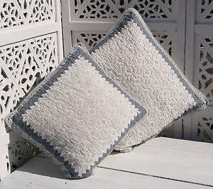 pia kissen bezug grau wei kissenh lle shabby 50x50 oder 40x40 cm landhaus. Black Bedroom Furniture Sets. Home Design Ideas