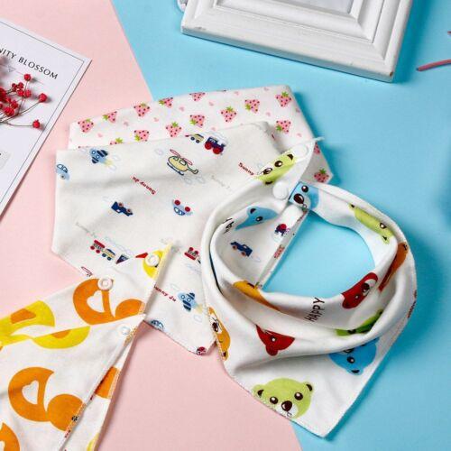 1//5//10pieces Baby Cotton Bibs Dribble Towel Feeding Smock Triangle Scarf
