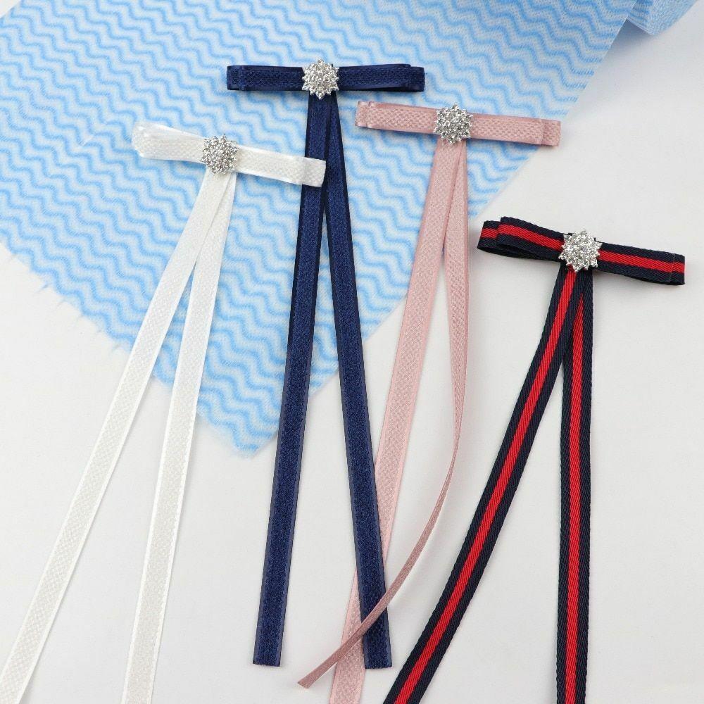 T Shape Woman Bowties Ribbon Butterfly Bowknot Twinkling Broken Glass Small Bows