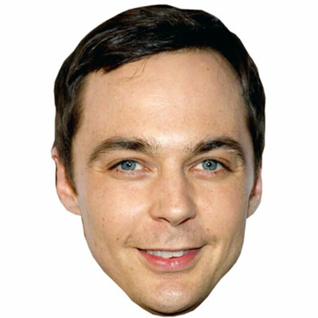 Jim Parsons Celebrity Mask, Card Face and Fancy Dress Mask