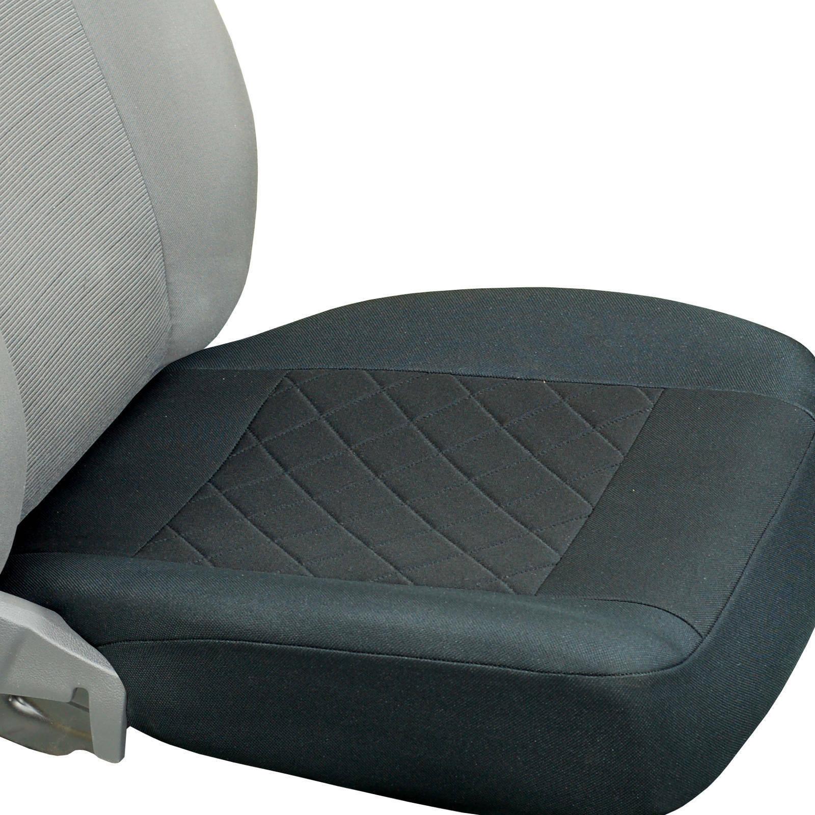 Schwarze Sitzbezüge nur untere Teil passen zu allem SKODA Autos Vorne