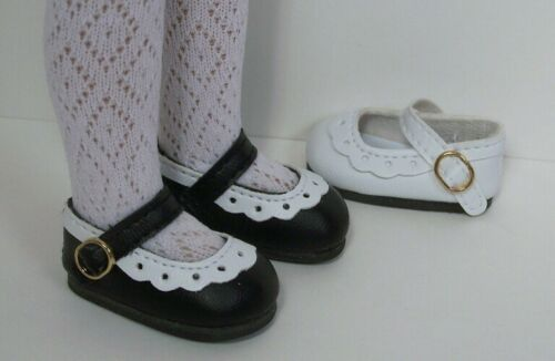 2-Tone BLACK WHITE Classic CF Doll Shoes For Dianna Effner Little Darling Debs