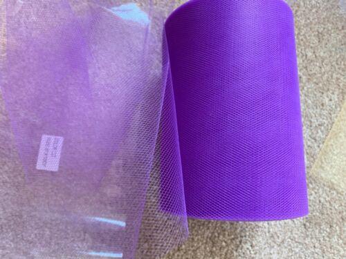 10m de 150mm de ancho de nylon suave tela Ciruela Tul Malla Boda//Tutu-imperfecto