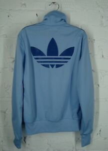 Adidas-Originals-Women-039-s-Track-Top-Jacket-Big-Logo-Blue-Size-36