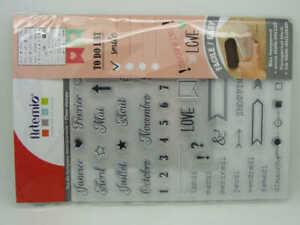 Calendrier Scrapbooking.Details Sur Clear Stamps Tampons Bullet Journal Agenda Calendrier Artemio Scrapbooking