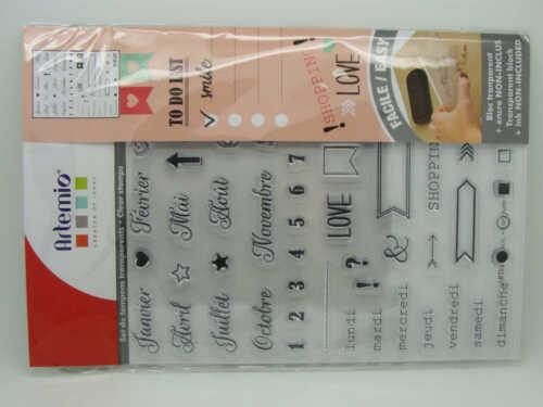Clear Stamps Tampons Bullet journal agenda calendrier Artemio Scrapbooking