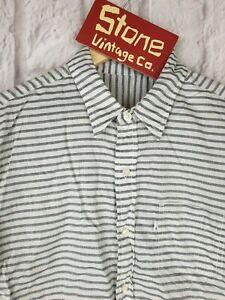 Levis-Weiss-Schwarz-Breite-Horizontale-Streifen-Baumwolle-Sommer-Shirt-S-S-Medium-90-NEU