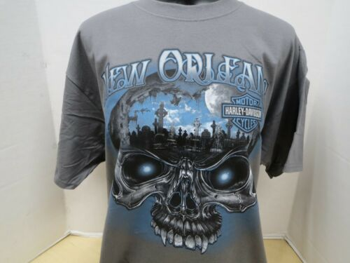 S//S And 100 Cotton RN00443 Men/'s Harley-Davidson NOLA Macabre T-Shirt Is Gray