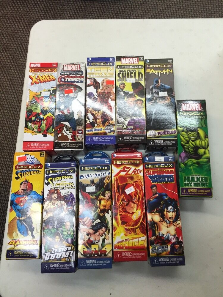 Heroclix Collection Mixed Unopen Booster Assortment 11 total boosters