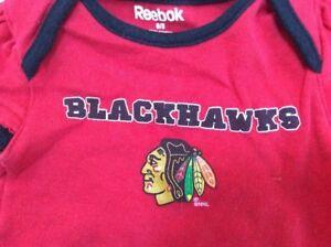 newest 99a5f dbde8 Details about Chicago Blackhawks Reebok Baby Bodysuit 0-3 months 100%  Cotton EUC Hockey