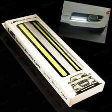 2 x Slim COB DRL Daylight Running light Waterproof for bike & car (white)