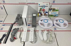 NR MINT🔥Nintendo Wii Console MARIO KART/ Wii Sports BUNDLE +Wheels - WARRANTY