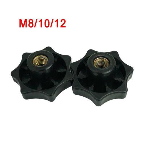 60# Seven-pointed Star M8M10M12 Black Plastic Thumb Nut Fit Thumb Screws Bolts