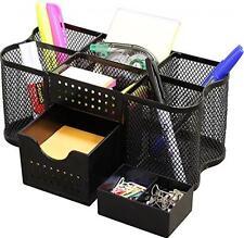 Home Office Desk Supplies Organizer Holder Caddy, Pen note Marker Staples Black