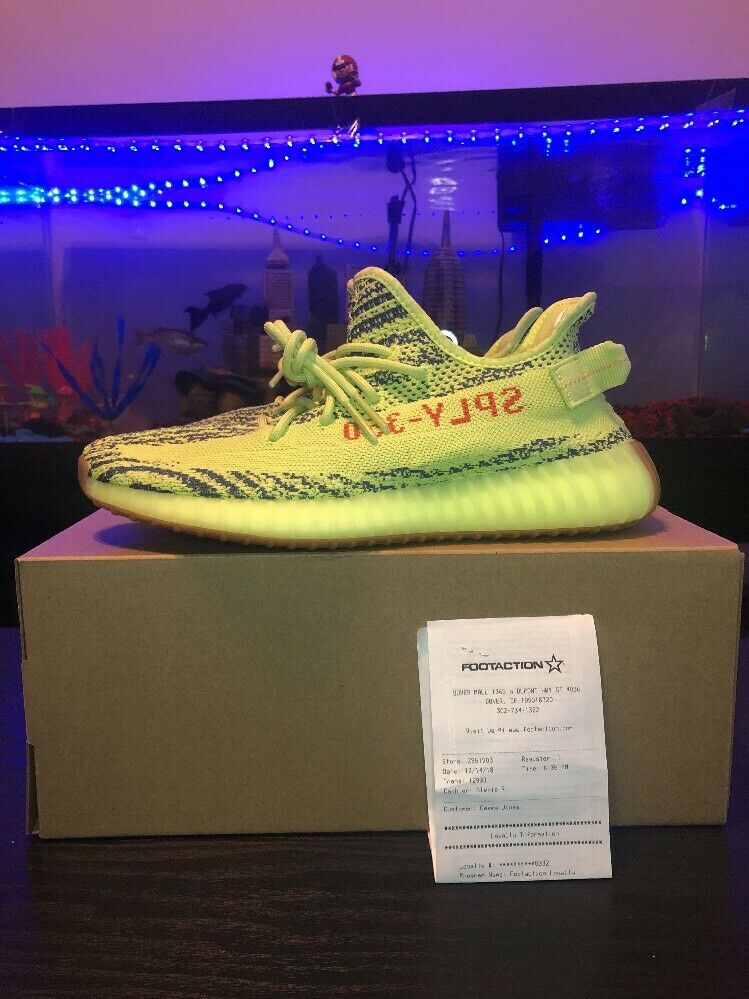 Adidas Yeezy Boost 350 V2 Semi-Frozen Yellow Size 9.5 Authentic