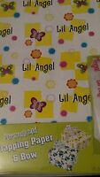 Personalized Gift Wrap Wrapping Spring Butterflies Nip Lil Angel