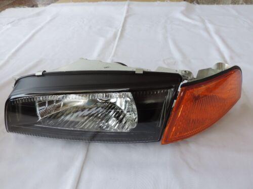 96-97 Evolution Lancer Evo4 IV 4 Black Head Light Amber Corner Mirage Phares