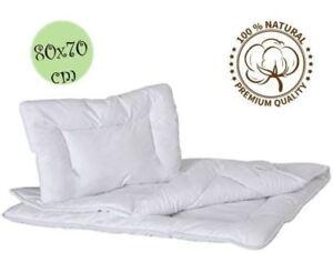 100/% Cotton 80x70 cm Duvet Quilt /& Pillow Baby Crib//Pram Set Bear Design