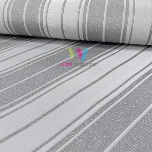Holden Décor Clara Stripe Wallpaper Glitter Textured Embossed Vinyl Roll 35401