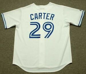 promo code 7e123 d4449 Details about JOE CARTER Toronto Blue Jays 1993 Majestic Cooperstown Home  Baseball Jersey