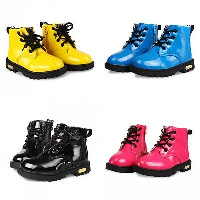 Fashion Baby Girls Boys Martin Boots Shoes Children Kid Water-proof freeshipping