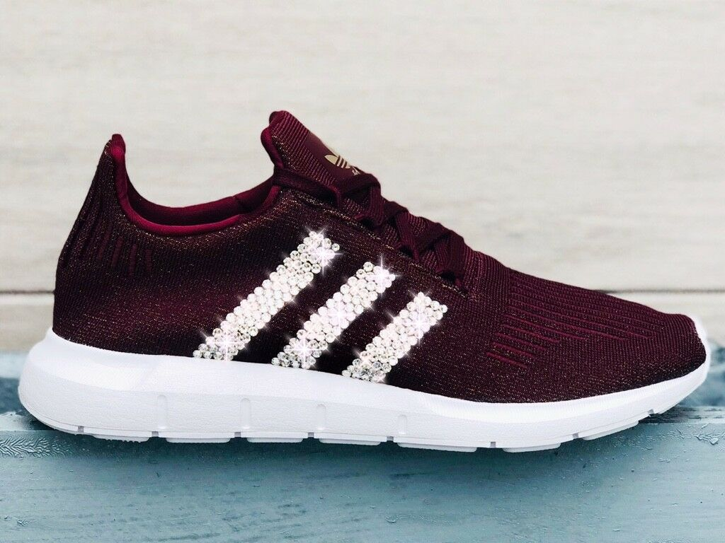 Crystal Adidas 40 Swift Run W Gr. 40 Adidas maroon NMD Glitzer mit Swarovski Elements 2c4efc