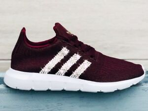 Details zu Crystal Adidas Swift Run W Gr. 40 maroon NMD Glitzer mit Swarovski Elements