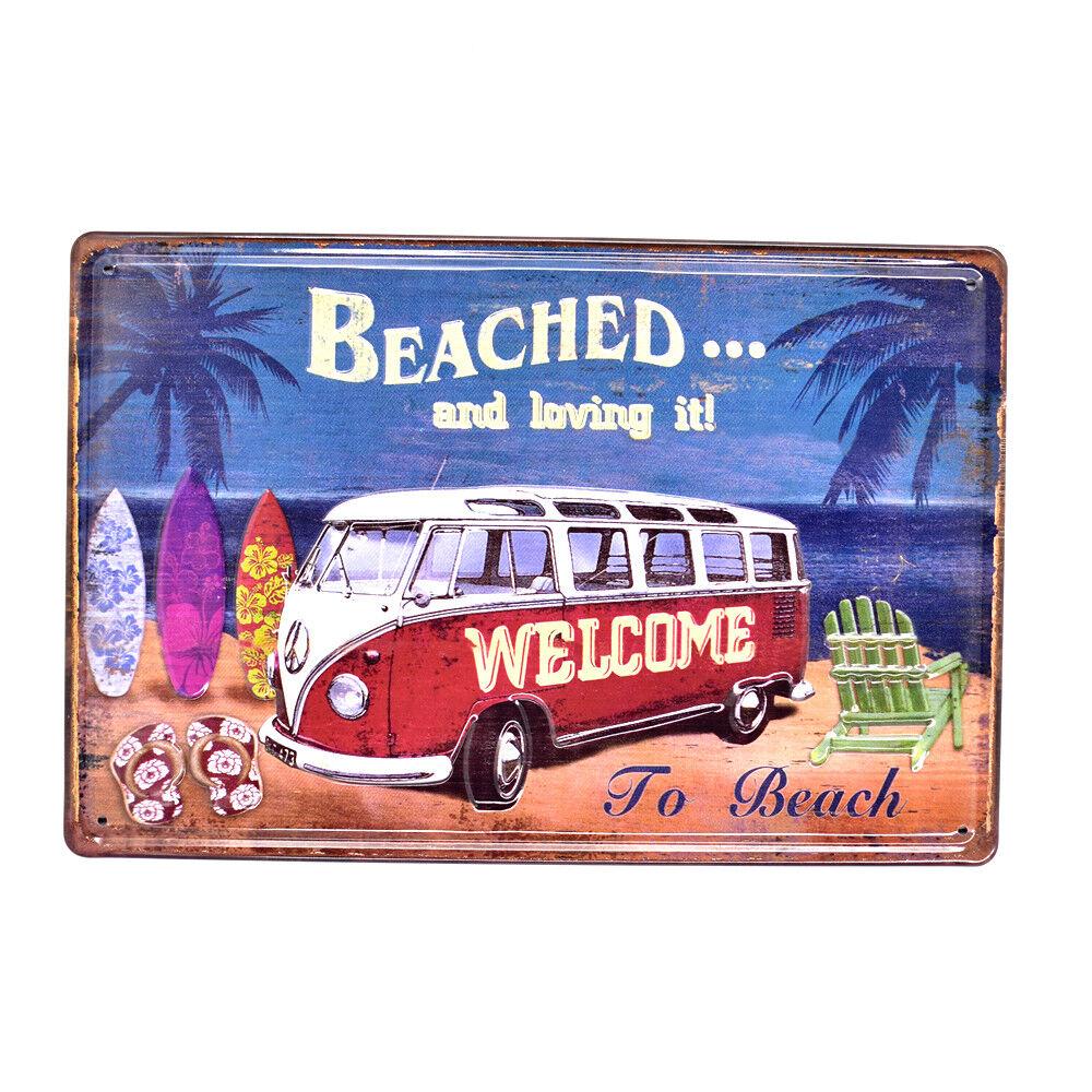 Vintage Metal Tin Sign Bar Beach Home Retro Surf Wall Decor Iron Art Poster