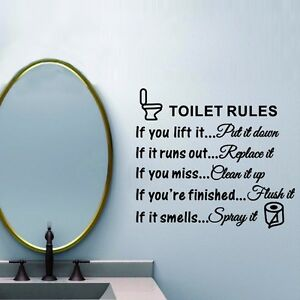 Toilet Rules Removable Wall Stickers PVC Vinyl Art Decals Toilet - Toilet wall stickers