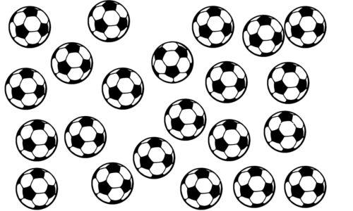 Football  decals stickers vinyl wall art kids bedroom nursery 21 x Soccer