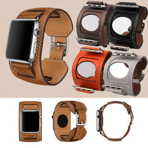For-Apple-Watch-iWatch-Vintage-Genuine-Leather-Band-Wristwatch-Band-Strap-Hot-GB