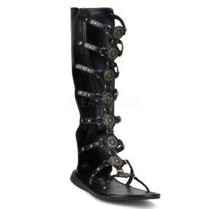 5732d091db8 Funtasma Roman-15 Men s Gladiator Style Costume Roman Flat Sandals M ...