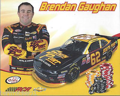 "2015 BRENDAN GAUGHAN /""SOUTH POINT CASINO/"" RCR #62 NASCAR XFINITY SERIES POSTCARD"