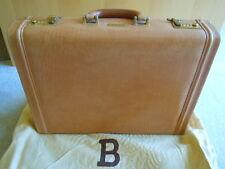 NEW BALLY Italian Vuitton Tan Leather Briefcase Attache Travel Bag.  $2500 value