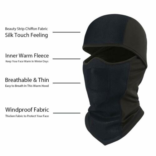 Windproof Fleece Neck Winter Warm Balaclava Ski Full Face Mask for Cold Weather