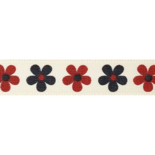Natural charms sow /& grow daisy berisfords ruban 4m x 15mm