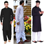 Brand-New-Men-Shalwar-Kameez-Black-White-Cotton-Blend-Salwar-Pakistani-Indian thumbnail 1