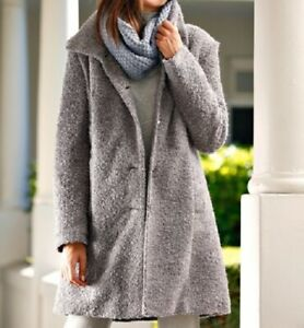 new style 0ce06 1c278 Details zu Mantel Kurzmantel Wollmantel Wintermantel Bouclé Damen Gr. 42 46  48 50 52 54