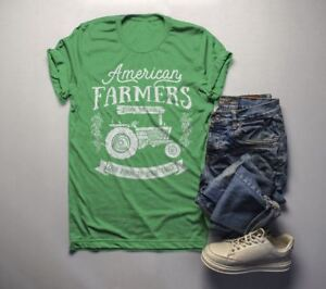 8cfc3a09f7331 Details about Men's Vintage Farmer T-Shirt American Farmers Tractor Tee  Farm to Table Shirt