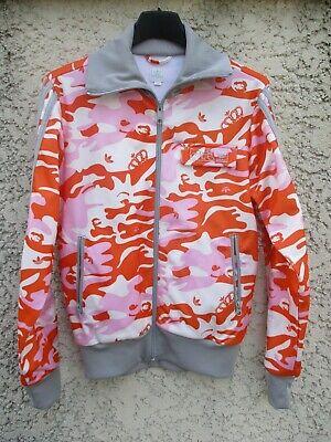 Veste ADIDAS camouflage orange Trefoil tracktop jacket giacca jacke femme 38 D36 | eBay
