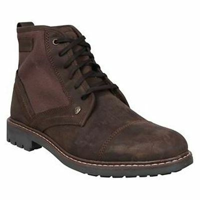 Firetrap Totem Dark Brown Leather New Mens Lace Up Army Ankle Hi Mid Boots Shoes