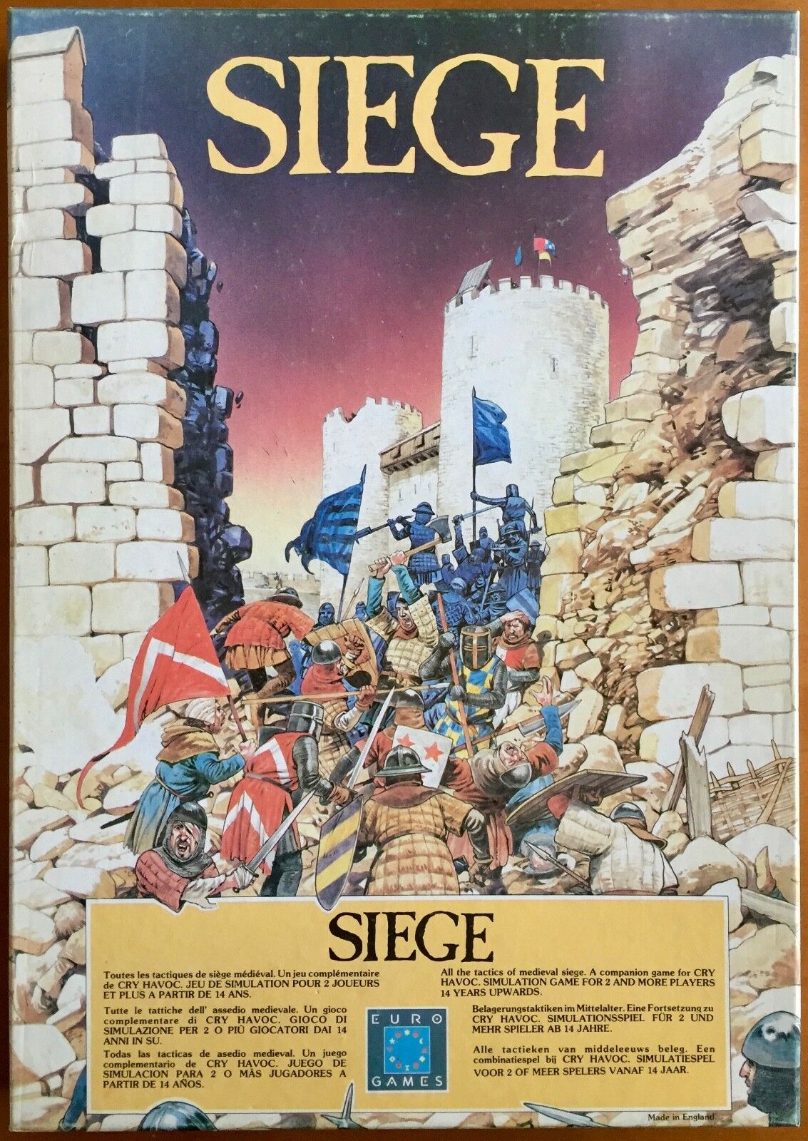 Siege - Eurogames 1983 - Pari al nuovo - UNPUNCHED