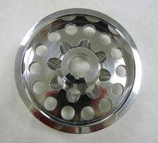 OBX Aluminum Crank Pulley Fits 01 02 03 04 Civic DX EX LX 1.7L D17A Silver