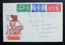 GB 1957 World Scout Jubilee Jamboree FDC Sutton Coldfield Postmark