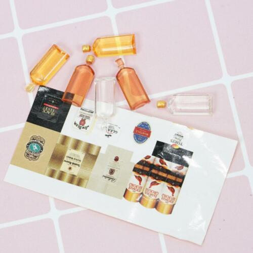6Pcs//Set Mini Whiskey Model For 1:12 Miniature Dollhouse Kitchen Decor Pro DIY//