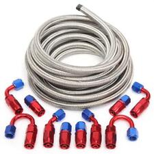 An6 6an An 6 38 Fitting Stainless Steel Braided Oil Fuel Hose Line 20ft Kit